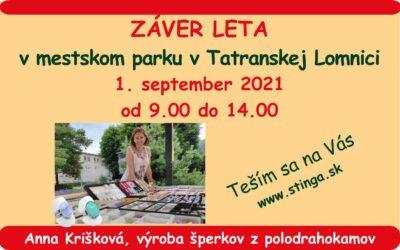 ZÁVER LETA v mestskom parku v Tatranskej Lomnici 1.9.2021